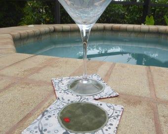Martini coasters - set of 4