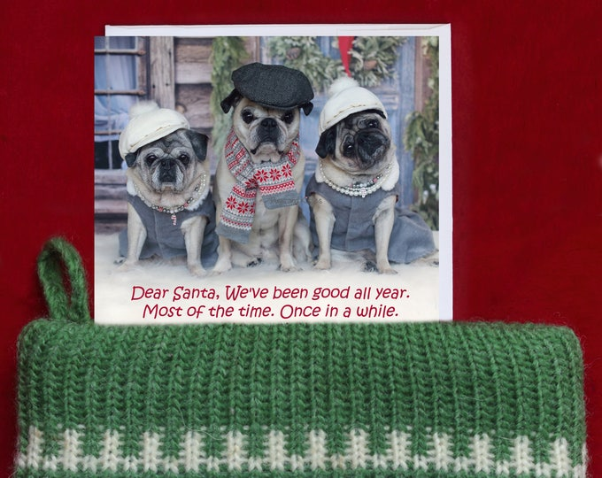 Cute STOCKING STUFFERS for Women - Dear Santa, We've Been Good All Year. - Cute Christmas Refrigerator Magnet - by Pugs and Kisses