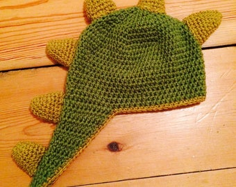 Handcrafted Crochet Dinosaur Spike Hat - all sizes available from baby to adult
