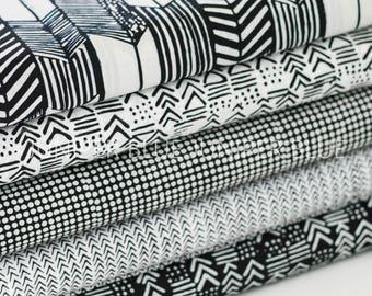 FAT QUARTER Bundle- Indah Batiks, Black and White Batiks, Hoffman Fabrics, Quilting Weight Cotton