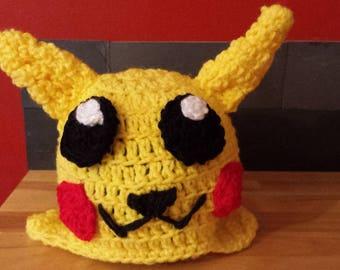 Pikachu character kids hat