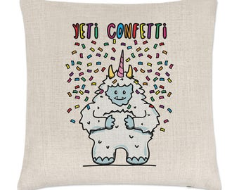 Yeti Confetti Linen Cushion Cover