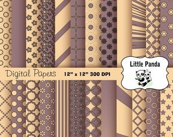 80% OFF SALE Bazaar and Champagne Digital Paper Pack 24 jpg files 12 x 12  - Instant Download - D214