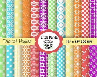 70% OFF SALE Easter Digital Paper Pack 24 jpg files 12 x 12  - Instant Download - D220
