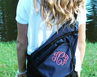 Monogrammed Sling Bag, Personalized Sling Bag, Shoulder Bag, Monogram Bag, Monogram Purse, Personalized Shoulder Bag, Monogrammed Diaper Bag