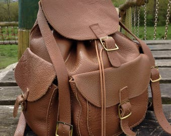 Leather Backpack Leather Rucksack Rucksack  Backpack