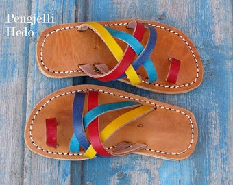 Sandals barefoot size 25 and 27 in leather for girl