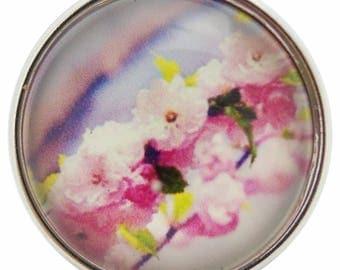 C0700 Art Glass Print Chunk - Branch of Flowers