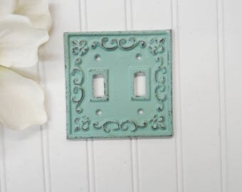 Light Switch Plate-24 Colors/Shabby Chic/Light Switch Cover/Double/Switchplates/Switch Plate/Vintage Light Switch/The Shabby Store/Nursery