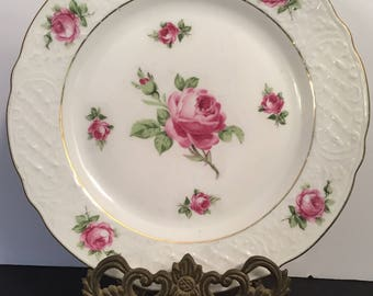 "Schumann Arzberg 8"" Rose Plate Bavaria Germany"