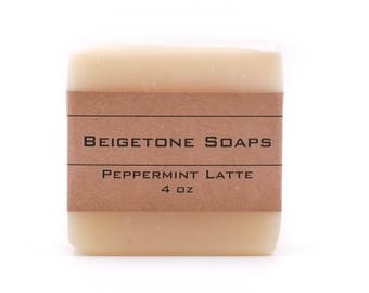 TOP SELLER | Peppermint Latte Soap Bar | 4oz | Stimulating and Fresh!
