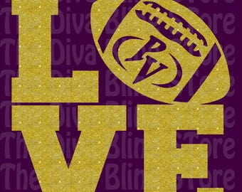 Love PV Football SVG file