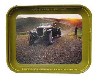 Vtg General Tires Advertising Tray 1924 Ballot Automobile