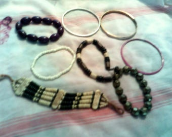 Bag of mixed bracelets for upcycling