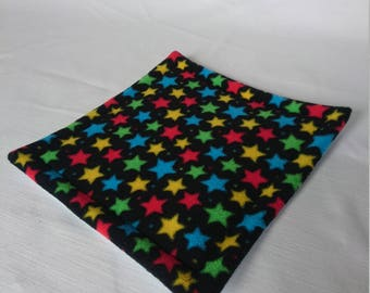Waterproof Potty Pad , Lap Pad for Guinea Pigs , Pygmy Hedgehog , Rats , Degus  ( Black & Multicoloured Stars )