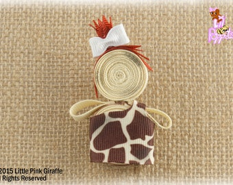 Lil' Poppet™ Cave Girl, Ribbon Sculpture Hair Clip or Brooch Pin, Ragamuffin Stella