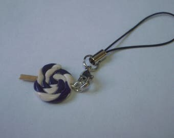 BAG PURPLE LOLLIPOP AND WHITE POLYMER CLAY