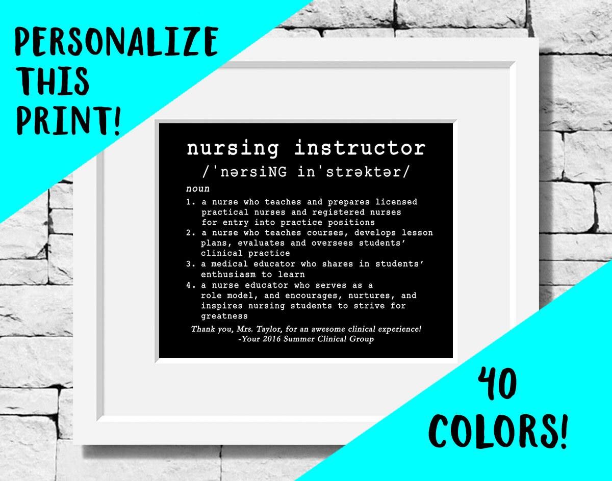 Custom Nursing Instructor Quote Personalized Nursing