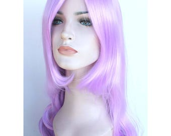 Christmas hair Sale. Lilac long curly hair. Light purple long curly wig. ready to ship. New Year's Eve party wig. Christmas party wig.
