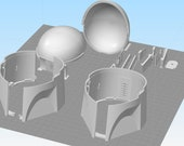 Jango Fett Style Mandalorian Helmet (The Drop Bear) with integrated cooling 3D Print files