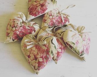 Heart in Laura Ashley Hydrangea fabric