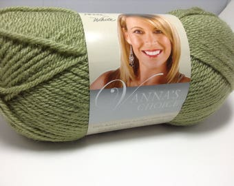 Lion Brand Vanna's Choice in color Dusty Green