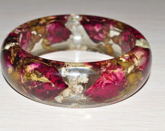 Bracelet with real bulgarian rose