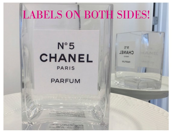 Double sided chanel inspired flower vase laminated label for I see both sides like chanel shirt