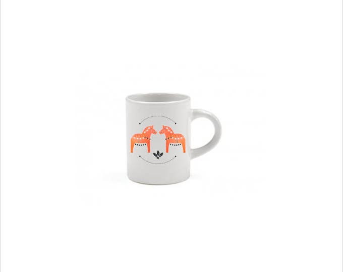 Orange Dala Horse Espresso Mug