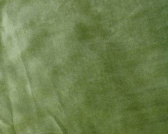 Fabric - Stretch velvet fabric - olive