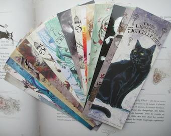 Set of 16 bookmarks (Phoenix, cat, Unicorn, dragon, Werewolf)