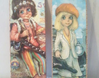 """Two small reproductions of """"poulbots"""" year 1970"""