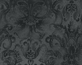 Softened Damask - Nighttime by Maywood Studio MAS103-J Cotton Fabric Yardage