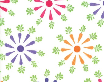 Frolic - #22311-19 - Me and My Sister - Moda Fabrics - Carrots - Bunny Fabric - Bright Colors - Fabric for Kids - Novelty - IN STOCK