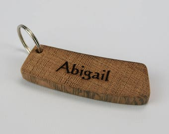 Personalised Whisky Barrel Keyring