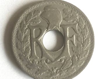 collectible coins 1917 France 5 Centimes coins currency