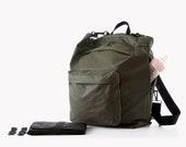 Khaki Green Diaper bag, Diaper bag Backpack,diaper bag, Changing bag, Stroller bag, Nylon laptop backpack, Baby nappy bag, Unisex backpack