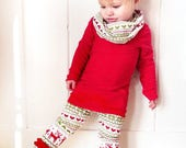 Baby Girl Christmas Outfit- Girl Toddler Christmas Outfit- Kids Christmas Outfit for Girls- Christmas Party Outfit- Baby Boutique Outfit
