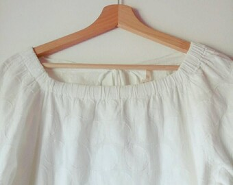 Vintage cotton long blouse