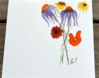 Echinacea Painting in Watercolor