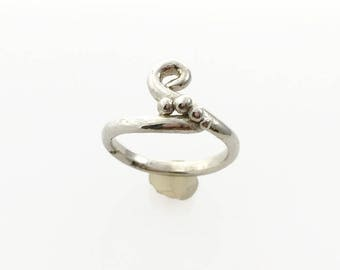Crazy Ring Sterling Silver/ Statement silver Ring / One of a Kind Ring / 925 Silver Ring Size 7.5