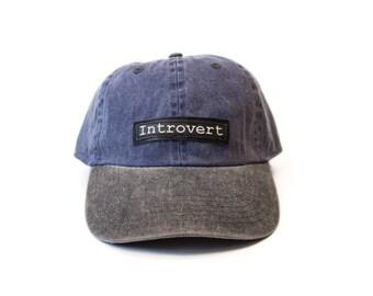 INTROVERT baseball cap