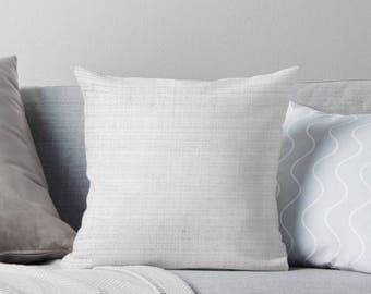 White Throw Pillow, White Linen Pillow, White Pillow Cover, Linen Decorative Pillow, White Linen Cushion, Neutral Pillow, White Pillows