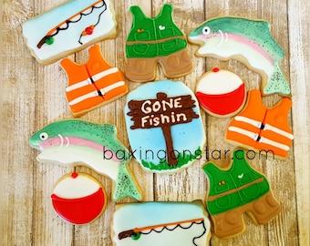 One dozen gourmet sugar cookies : Go Fish
