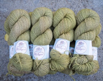 Hand dyed natural Bluefaced Leicester and Masham yarn - 100 grams - 240m/262 yards - Hay