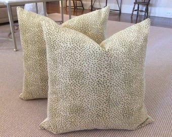 "Cowtan and Tout ""Malabar"" gros point velvet in leaf-Pillow covers"
