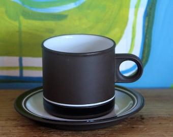 Hornsea vintage 1970's rustic brown coffee pot, Hornsea teapot, Lancaster Contrast design, English pottery,Rustic pottery, Brown coffee pot