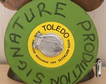 VINTAGE-Fibreglass-Measuring-TAPE-30M-Heavy-Duty-Collectable- TOLEDO