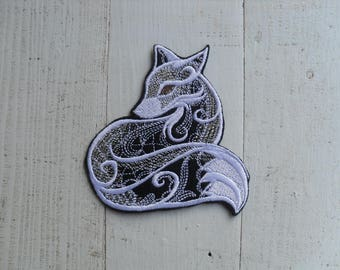 Fox patches Mystique , Fox patch ,  Iron on Patch Fox , Patches for jackets , Cute patches, Decor jackets