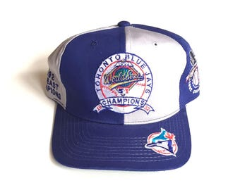Vintage Toronto Blue Jays World series champs starter pinwheel Snapback MLB Baseball Snap back Strapback hat Adjustable Twill One Size
